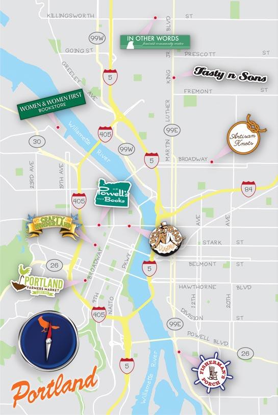 Portlandia Travel Map